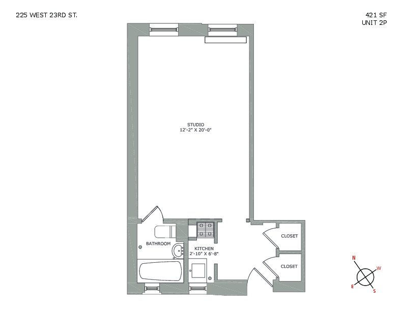 225 West 23rd St, 2P - Flatiron District, New York