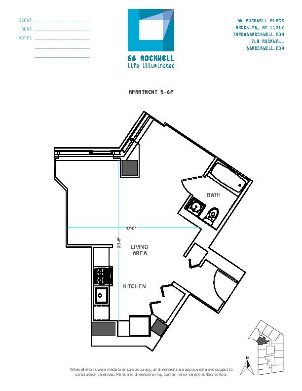 Floor plan for 6P