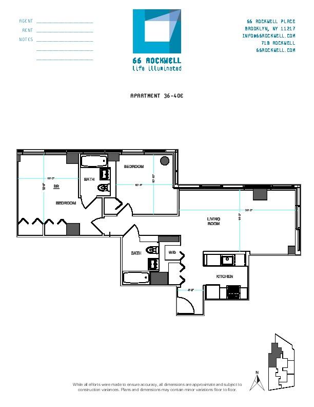 Floor plan for 38E