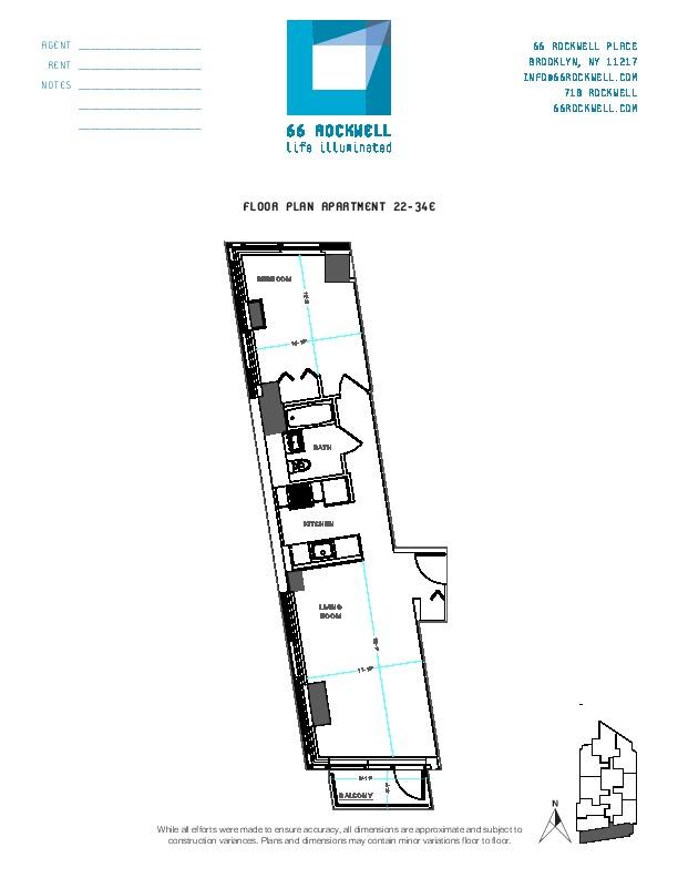 Floor plan for 32E
