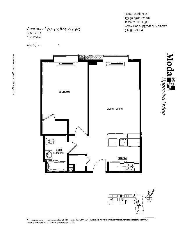 Floor plan for 502