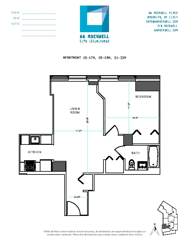 Floor plan for 17H