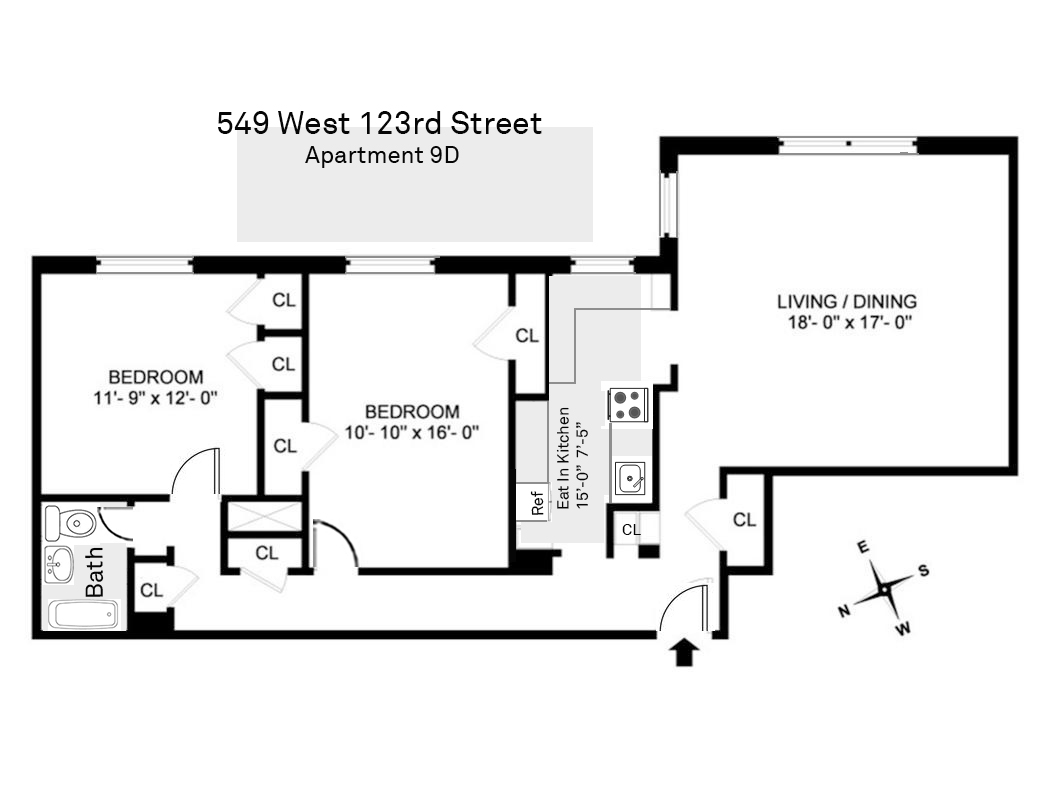 549 West 123rd Street 9D Morningside Heights New York NY 10027