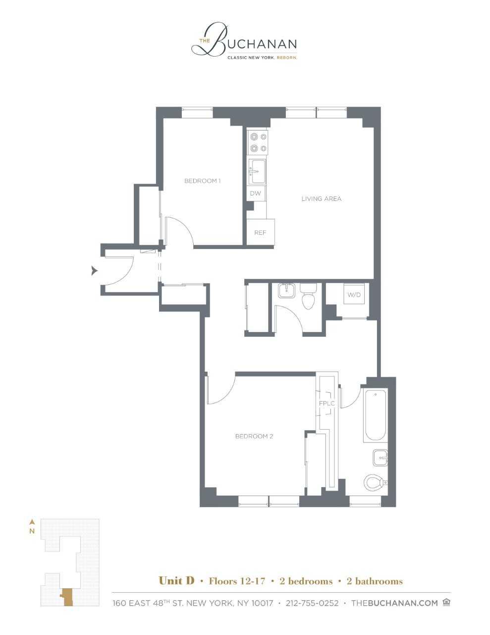 Floor plan for 14D