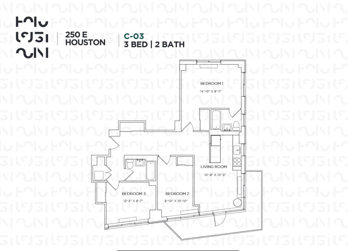 Floor plan for 4C