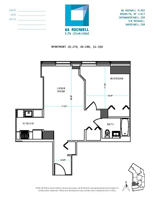 Floor plan for 23H