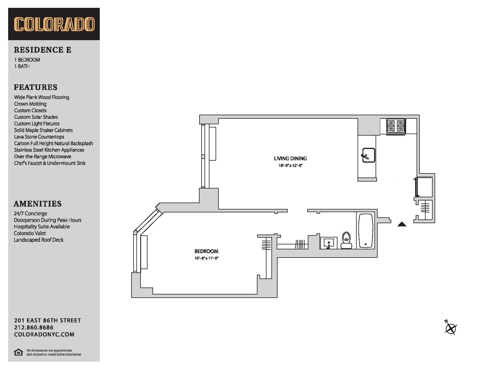 Floor plan for 11-E