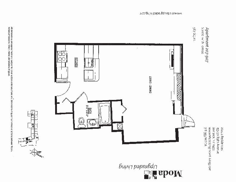 Floor plan for 207
