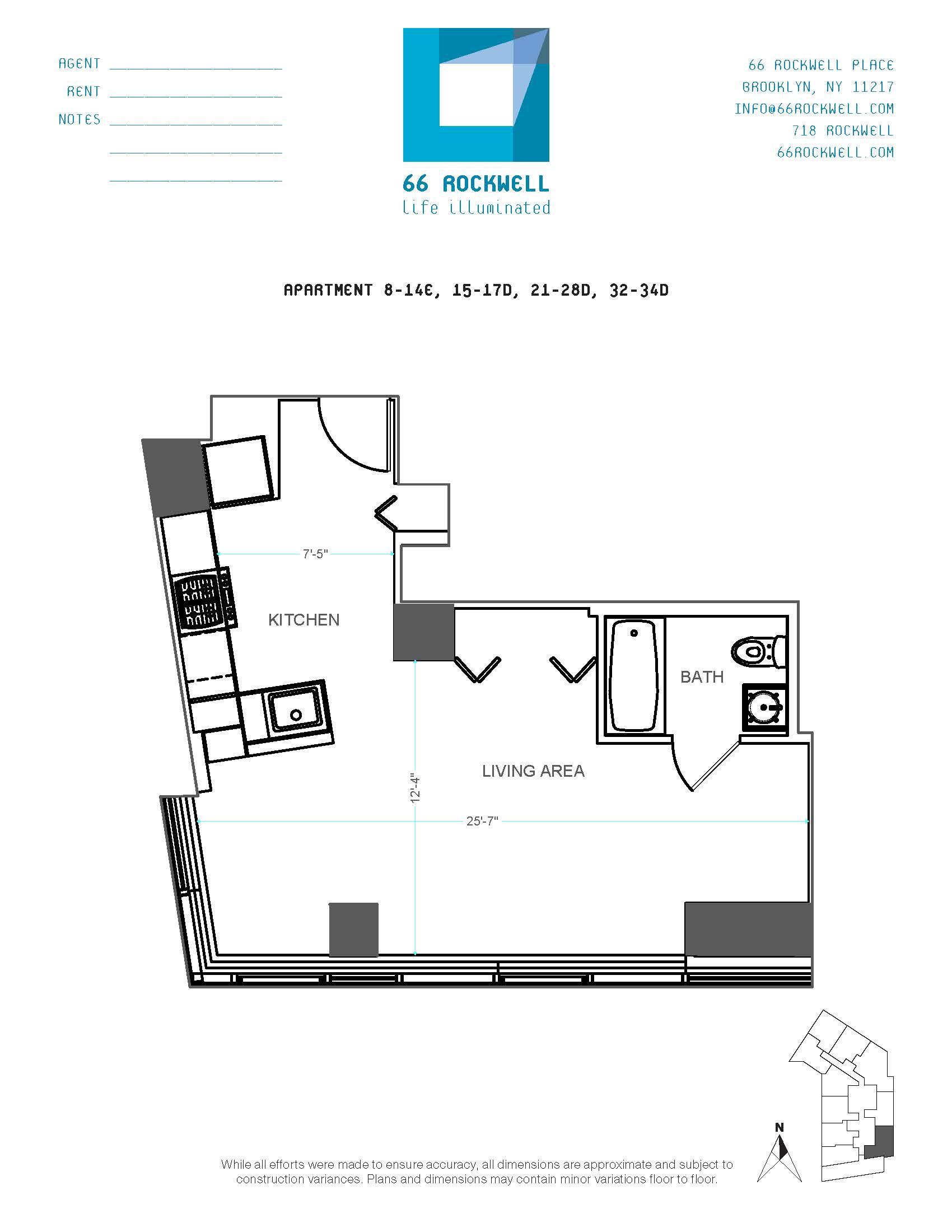 Floor plan for 32D