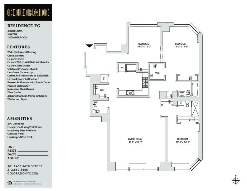 Floor plan for 15-F