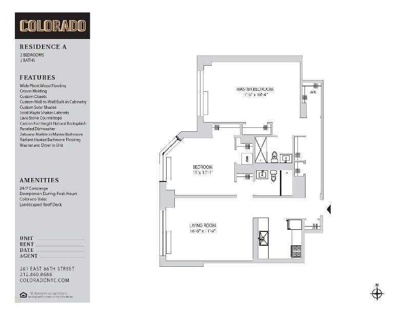 Floor plan for 25-A