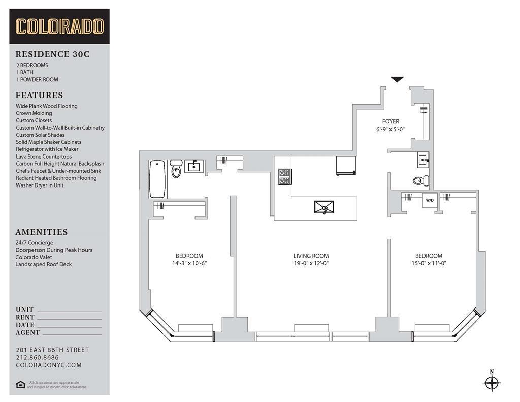 Floor plan for 25-C