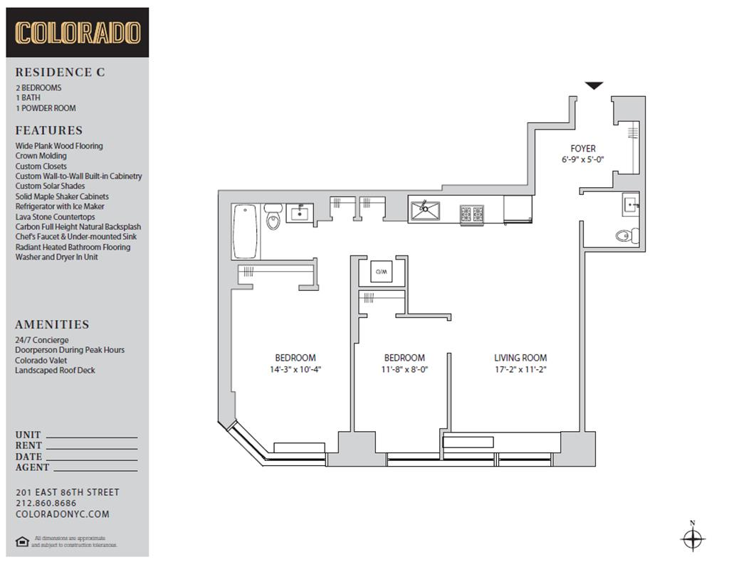 Floor plan for 6-C