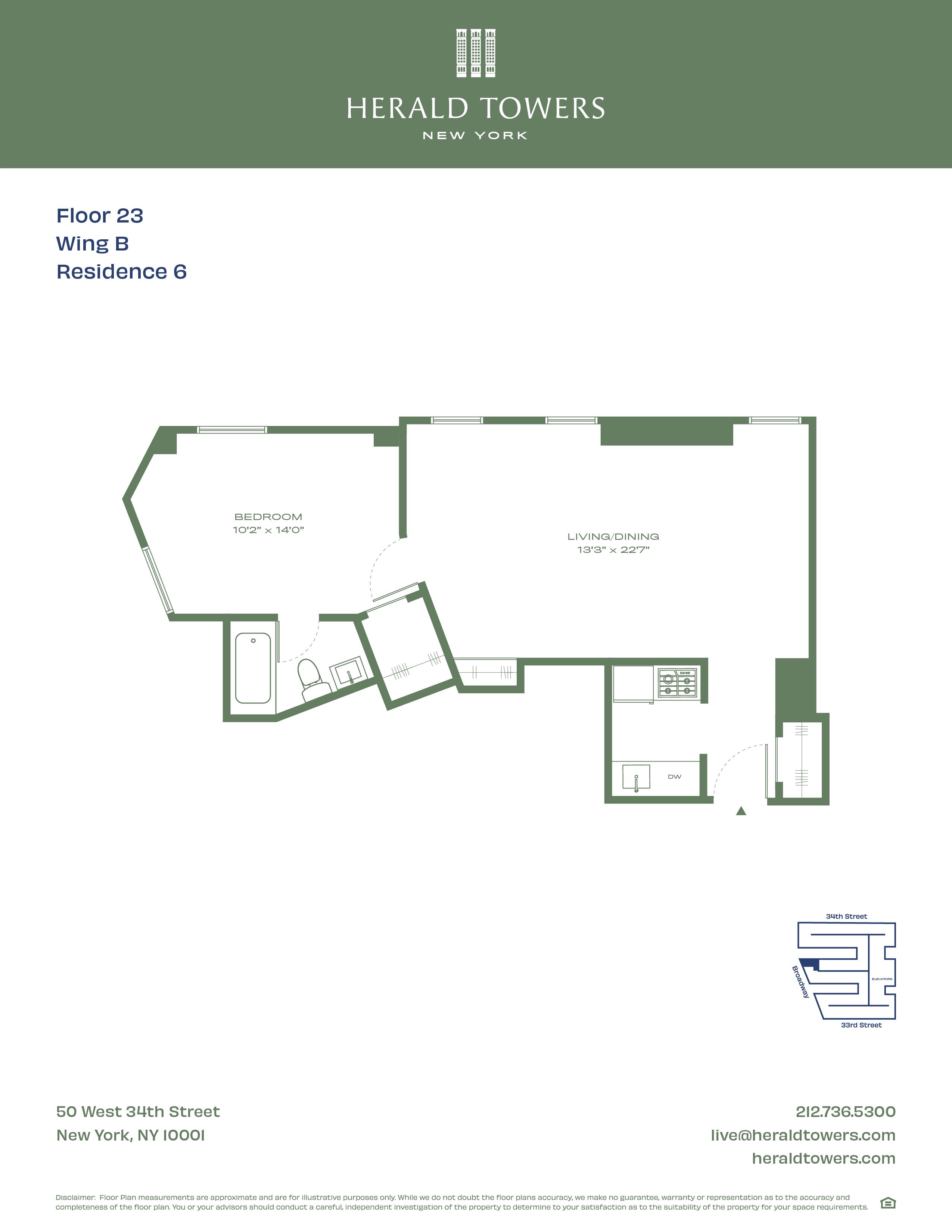 Floor plan for 23B06