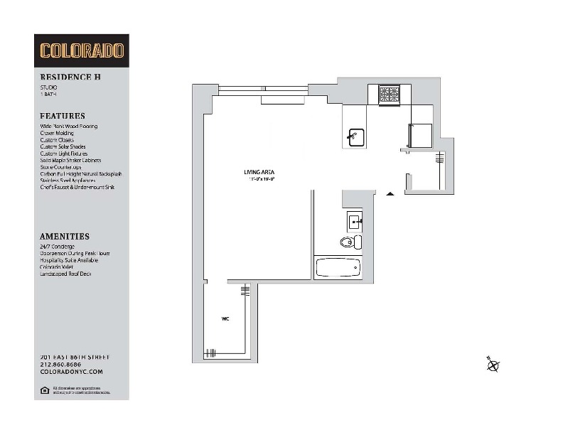 Floor plan for 23-H