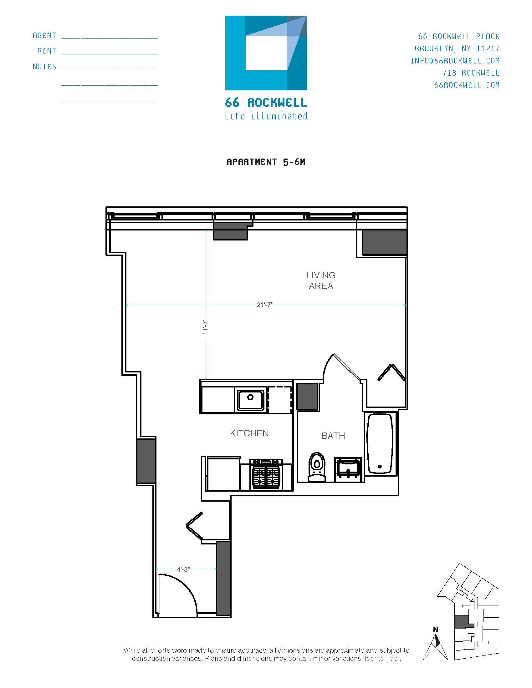 Floor plan for 6M