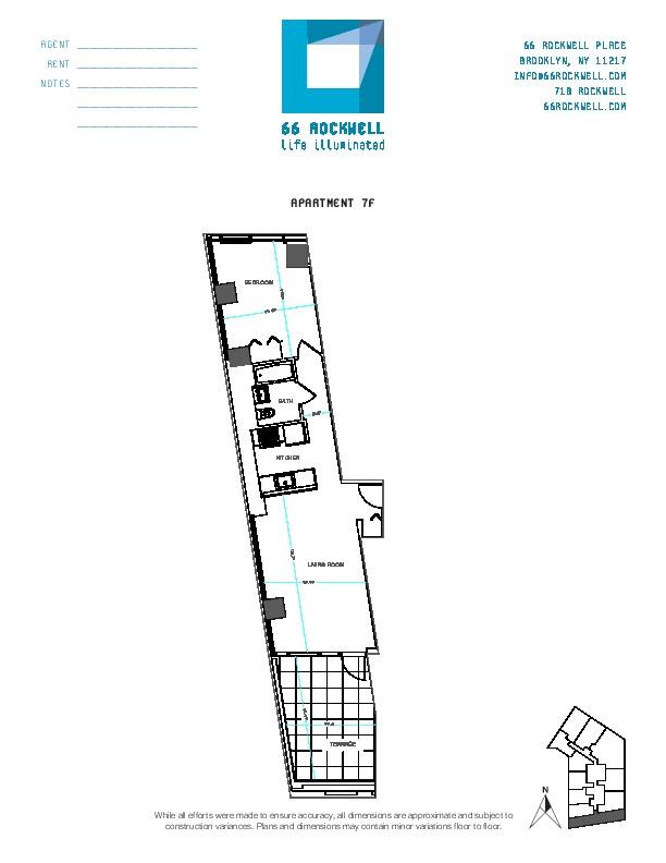 Floor plan for 7F