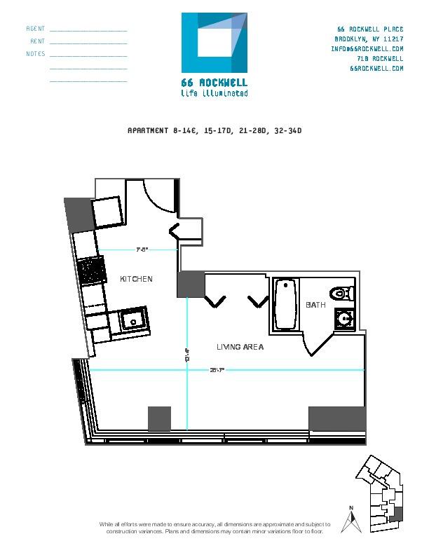 Floor plan for 12E