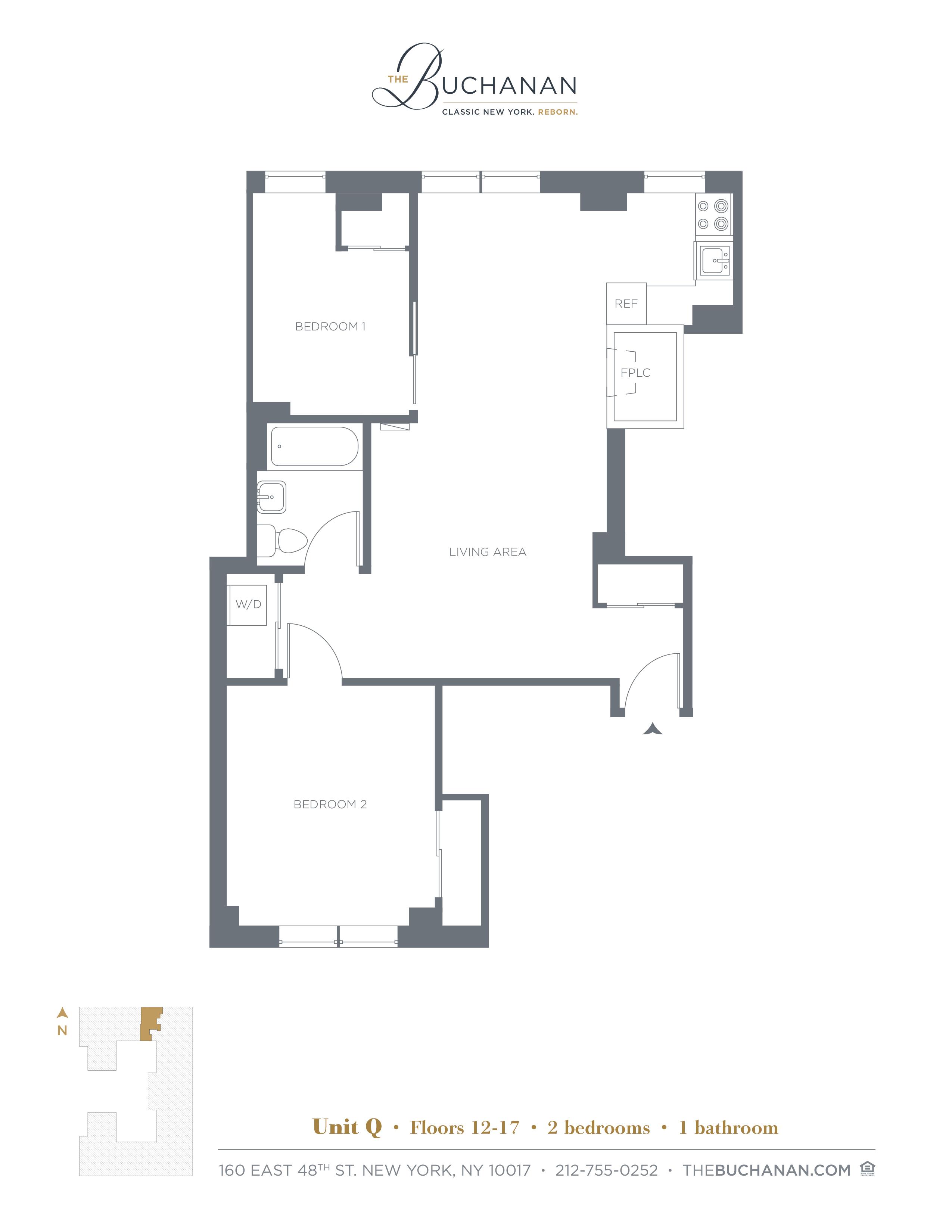 Floor plan for 14Q