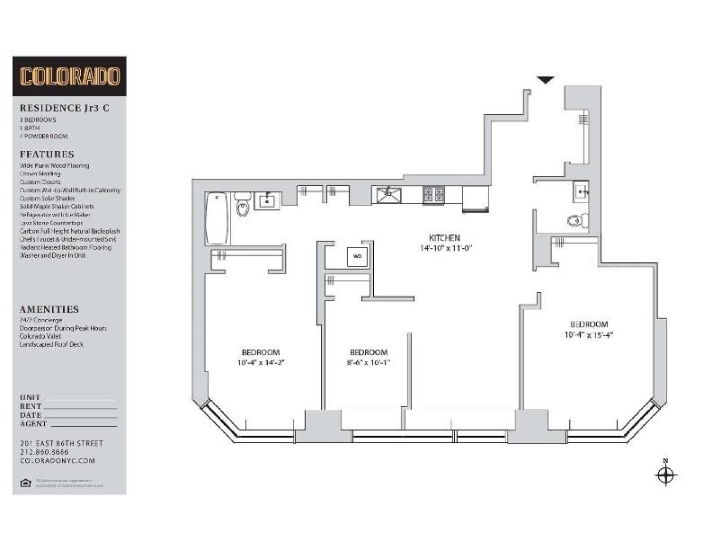Floor plan for 13-C