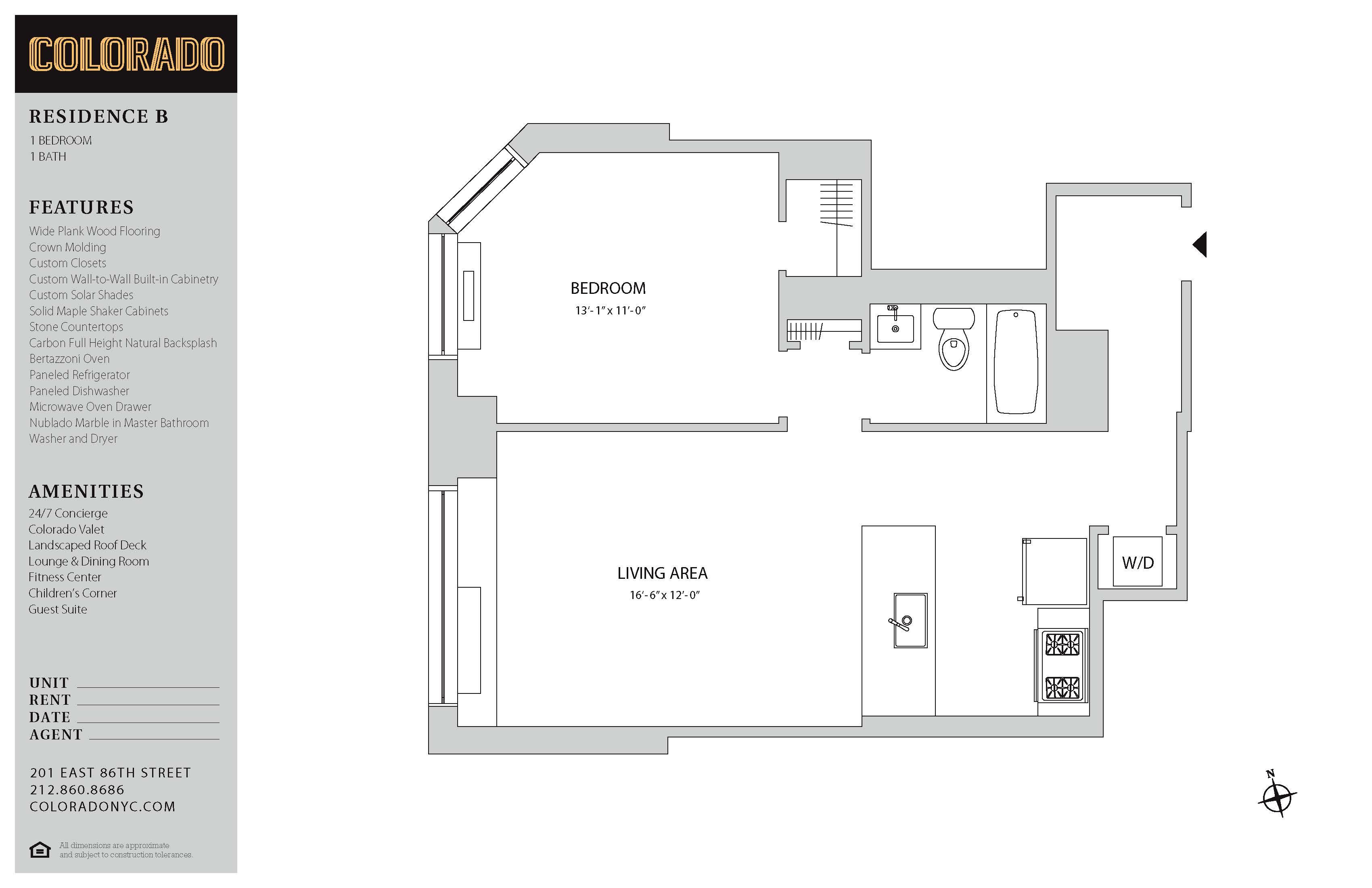 Floor plan for 20-B