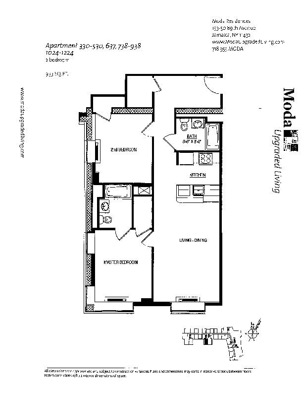 Floor plan for 838