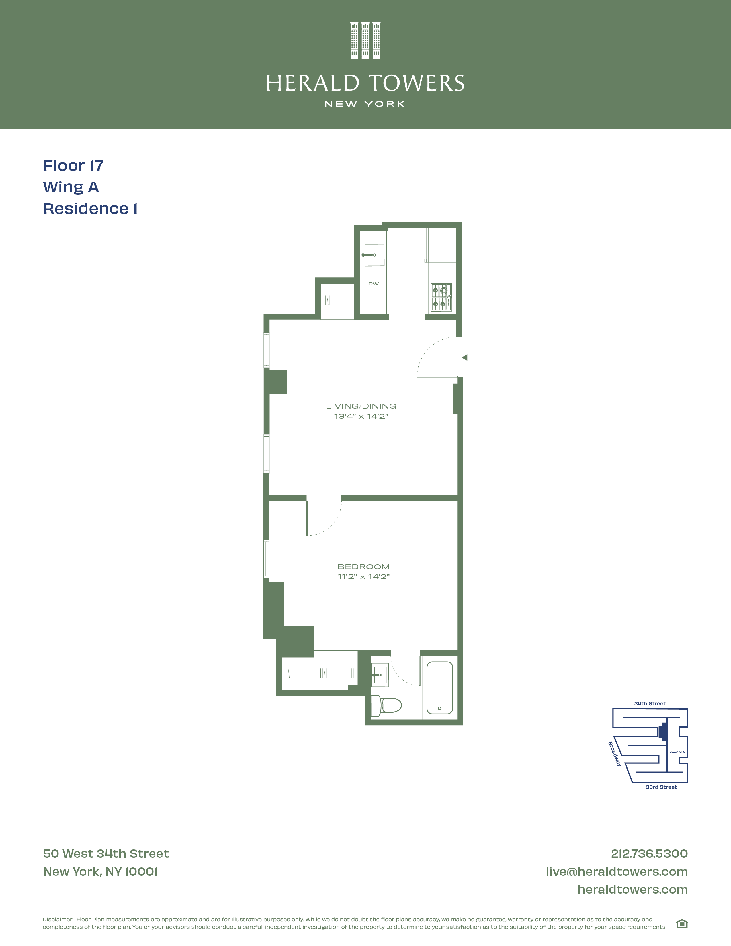 Floor plan for 17A01
