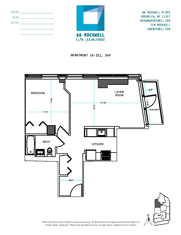 Floor plan for 20J