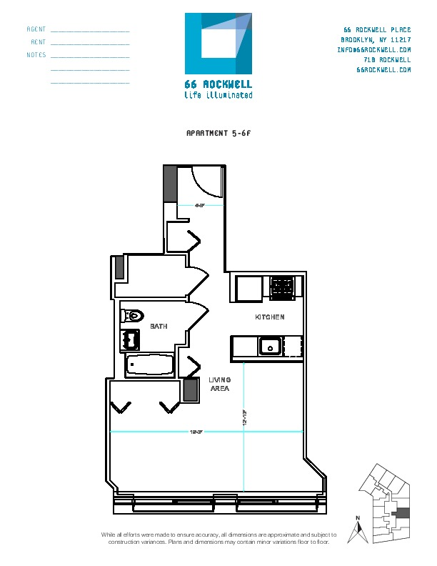 Floor plan for 6F