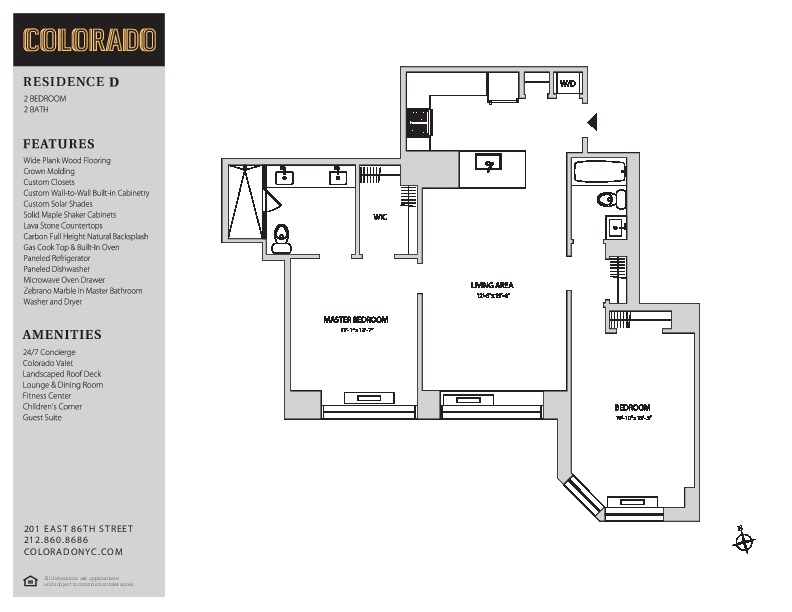 Floor plan for 22-D