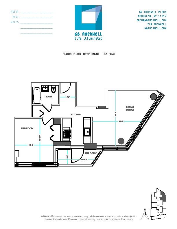 Floor plan for 25B