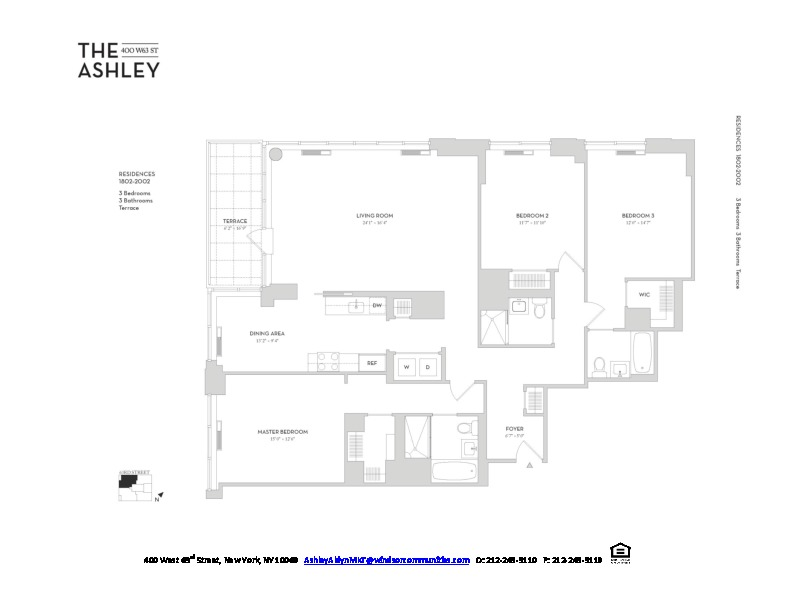 The Ashley, 400 West 63rd Street, 2202 - Upper West Side, New York
