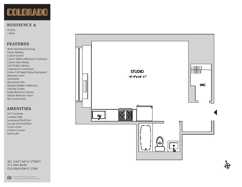 Floor plan for 20-A