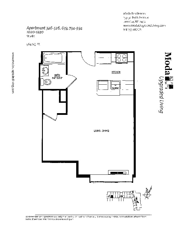 Floor plan for 426