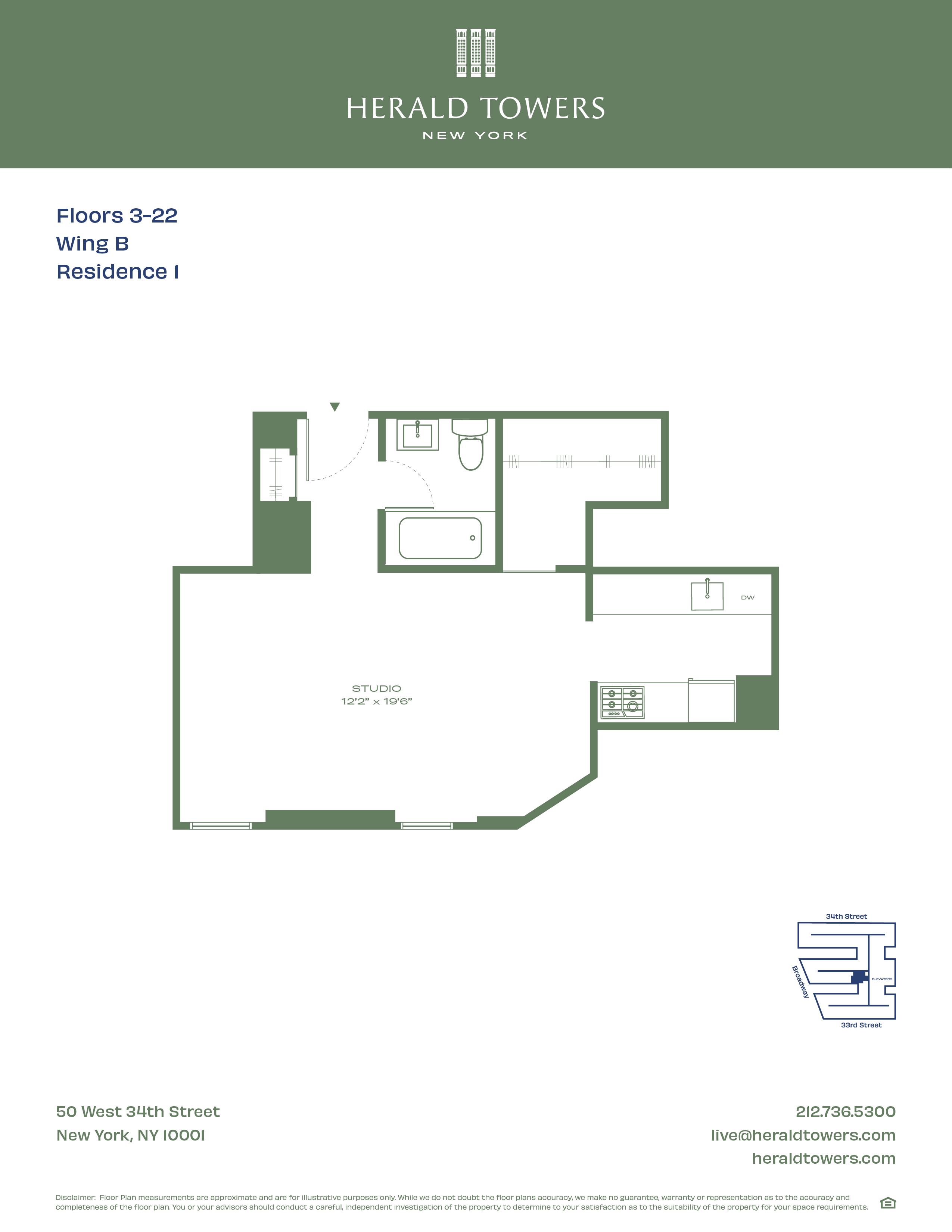 Floor plan for 14B01