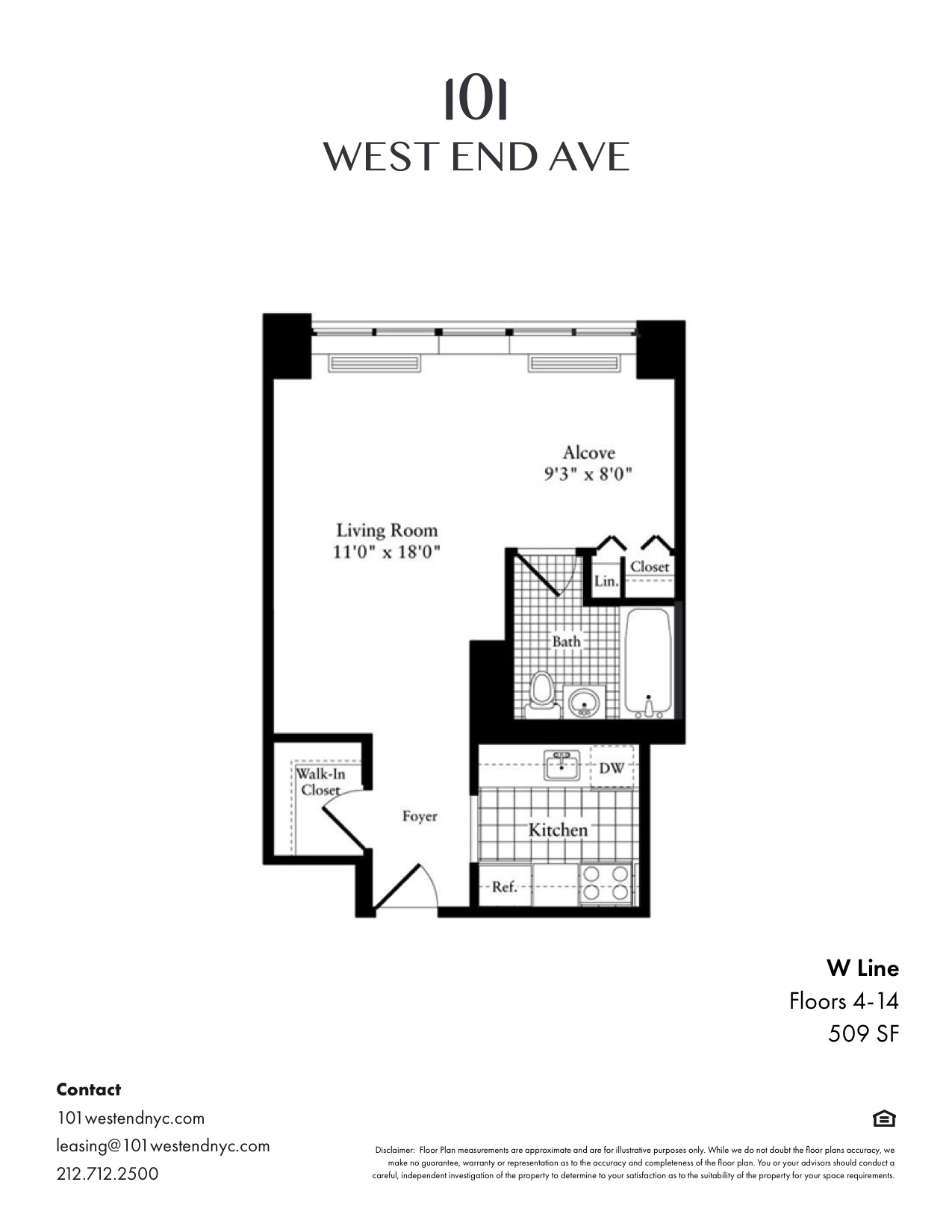 Floor plan for 14W