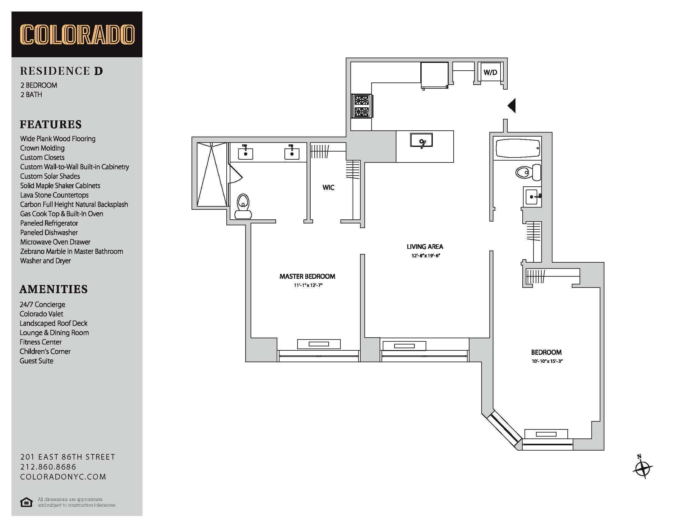 Floor plan for 20-D