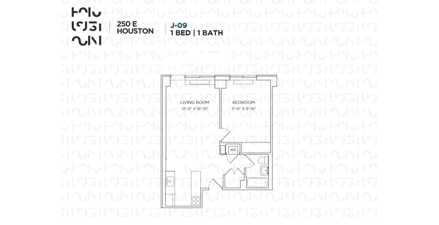 Floor plan for 3J