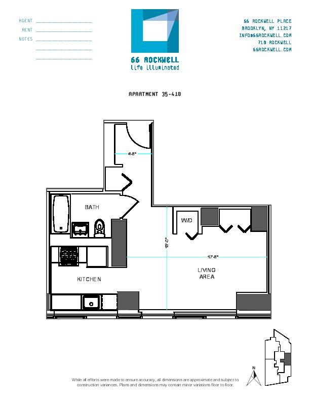 Floor plan for 41B