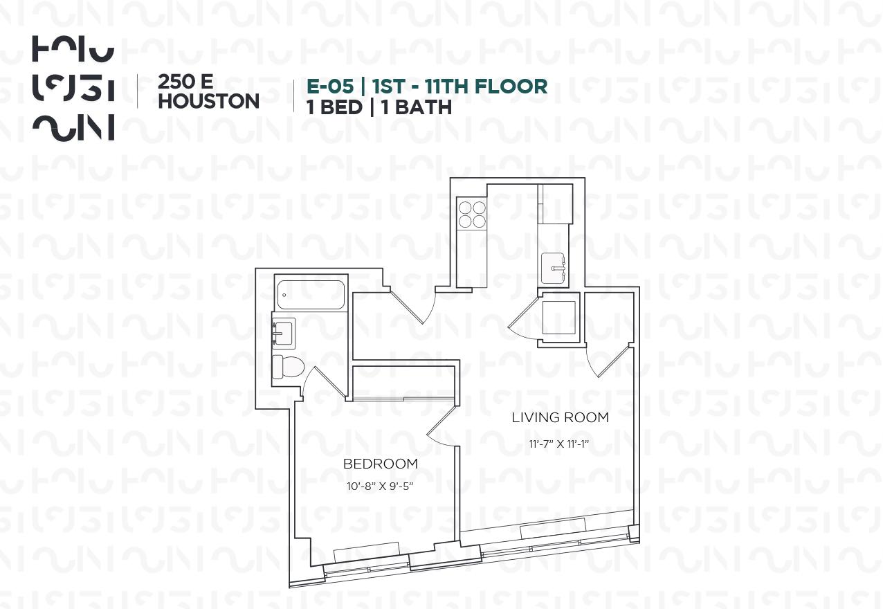 Floor plan for 7E