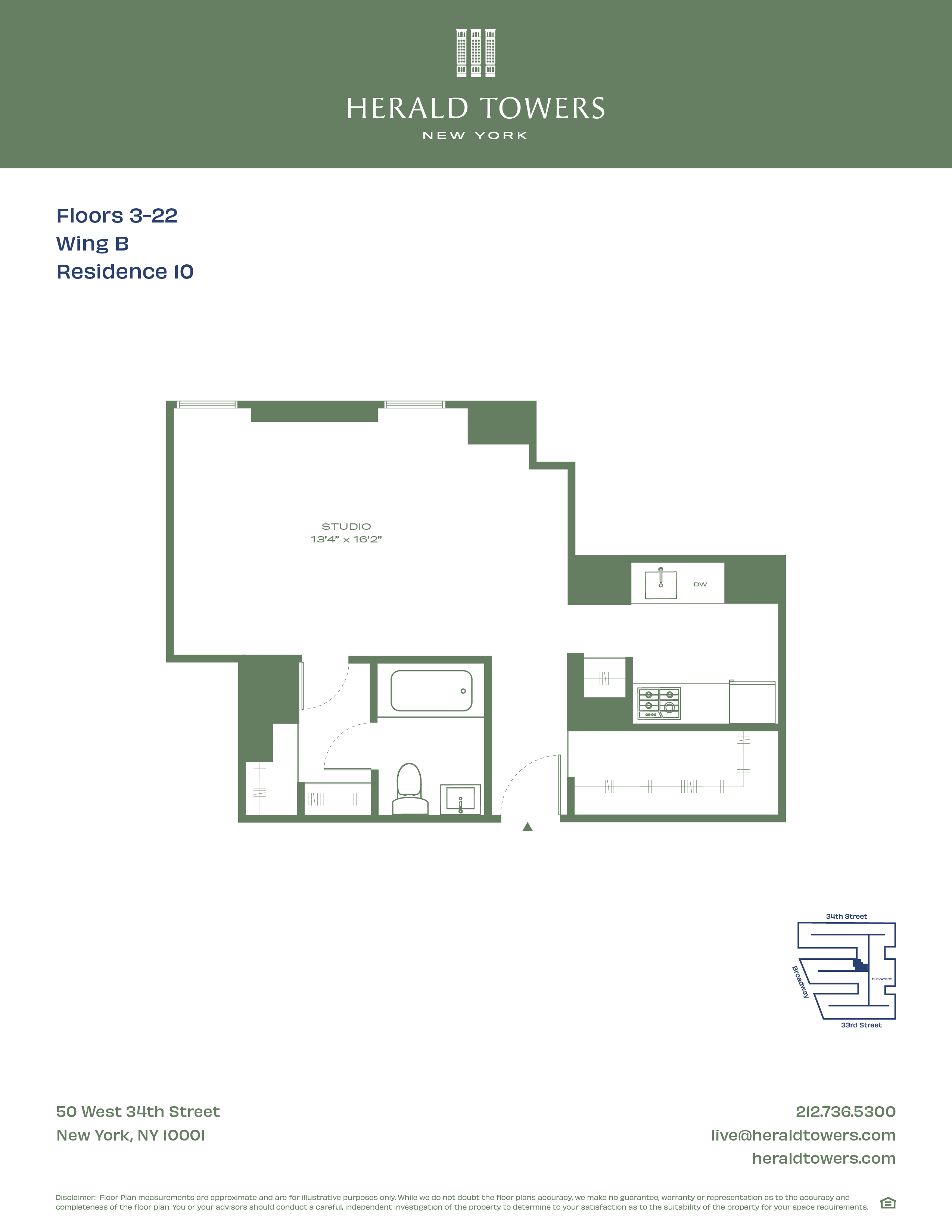 Floor plan for 7B10