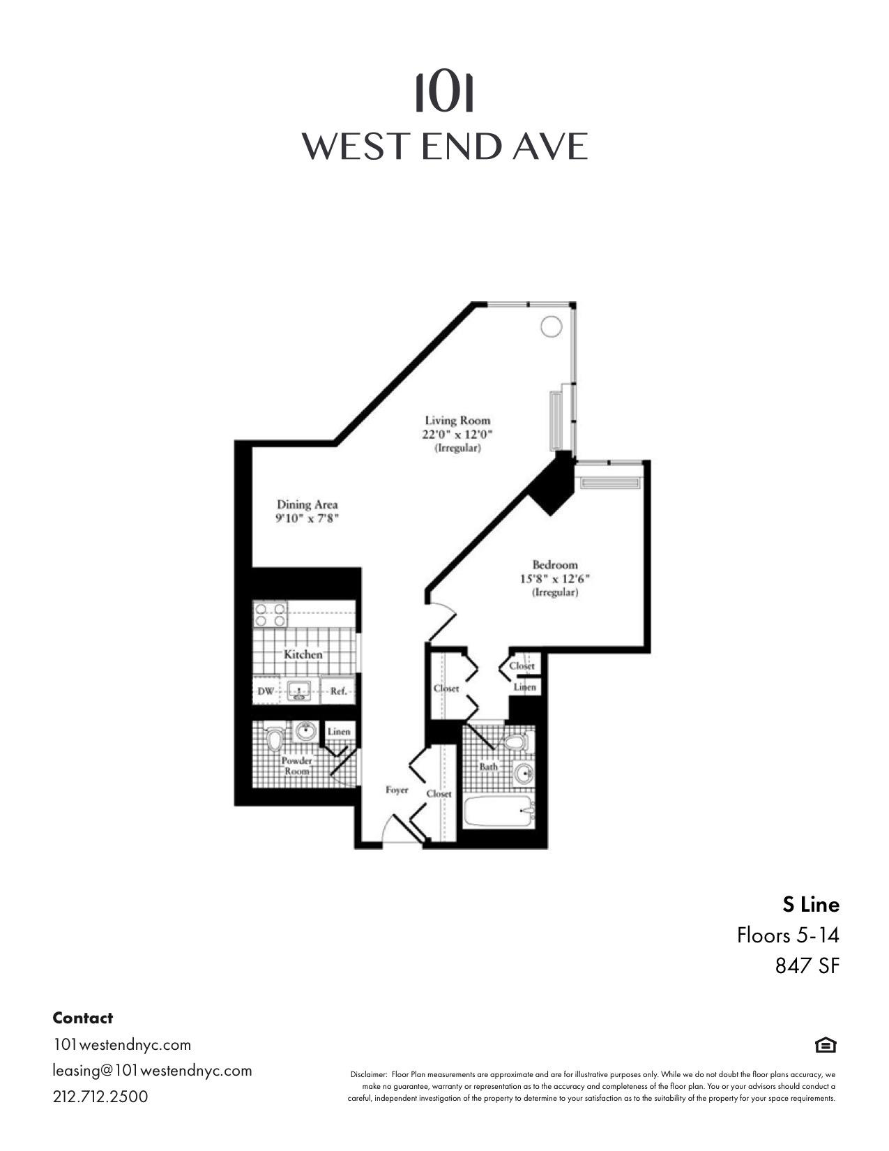 Floor plan for 10S