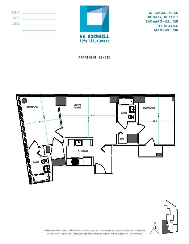 Floor plan for 40D
