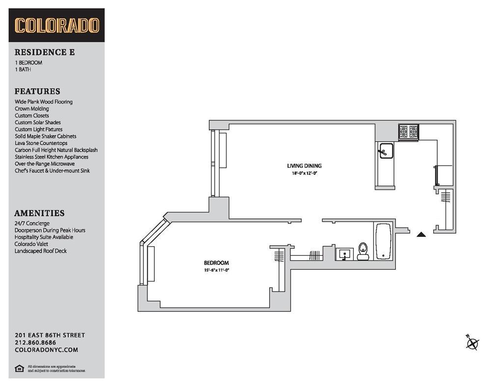 Floor plan for 10-E