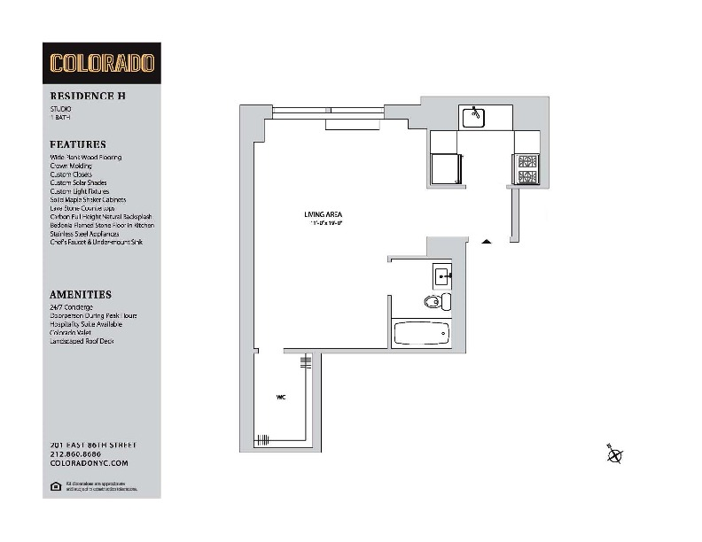 Floor plan for 28-H
