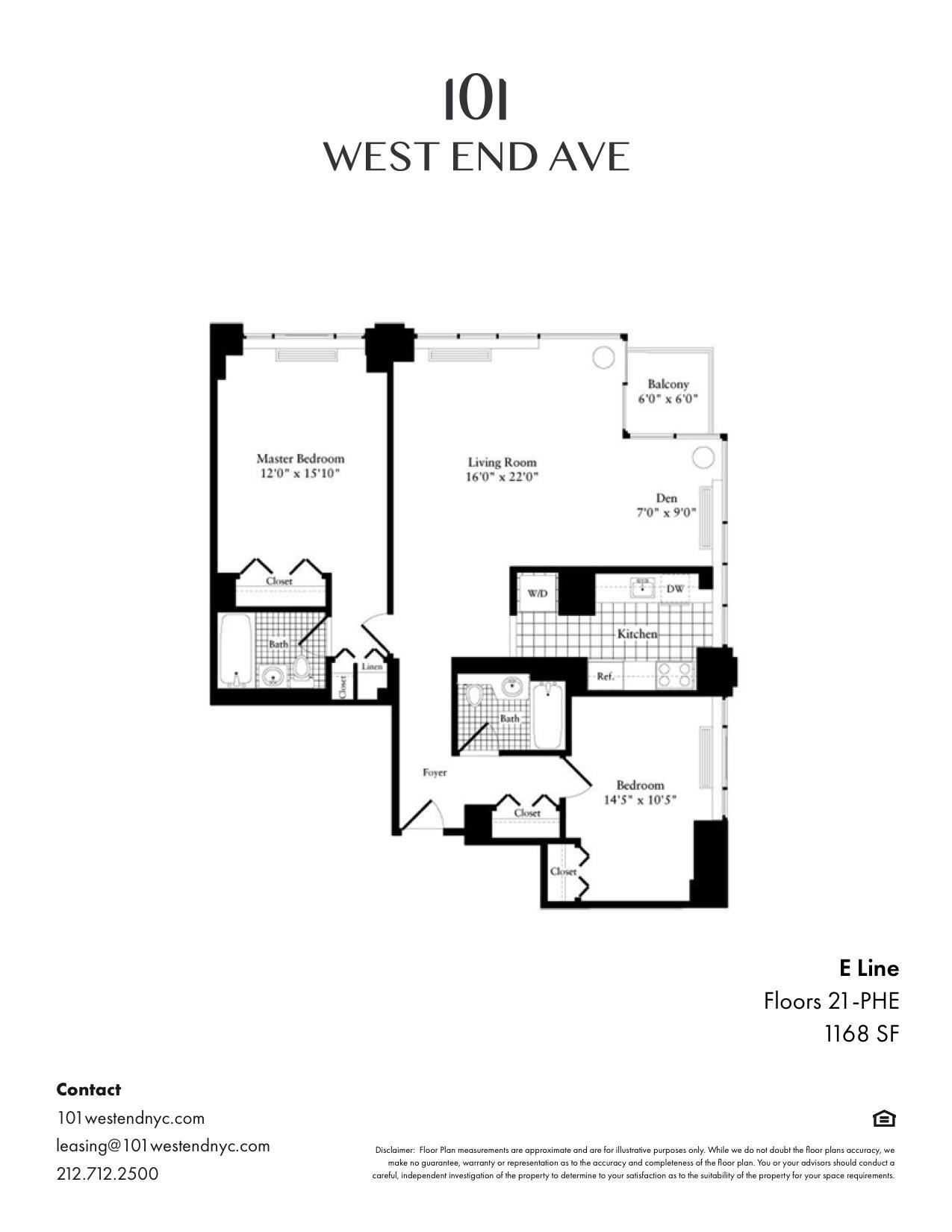 Floor plan for 21E