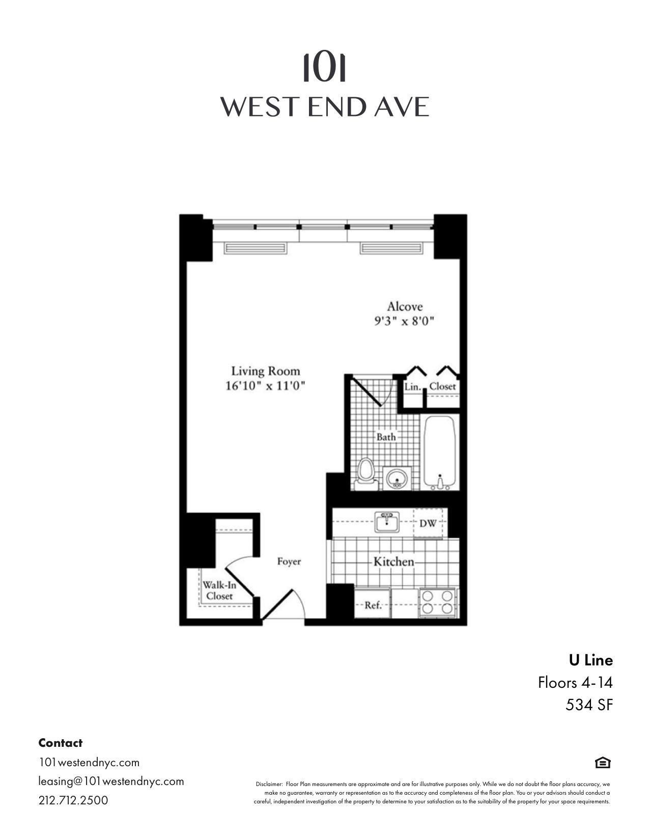 Floor plan for 7U