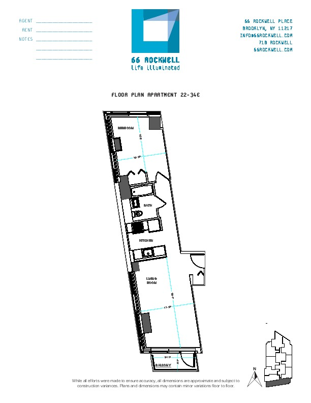 Floor plan for 24E