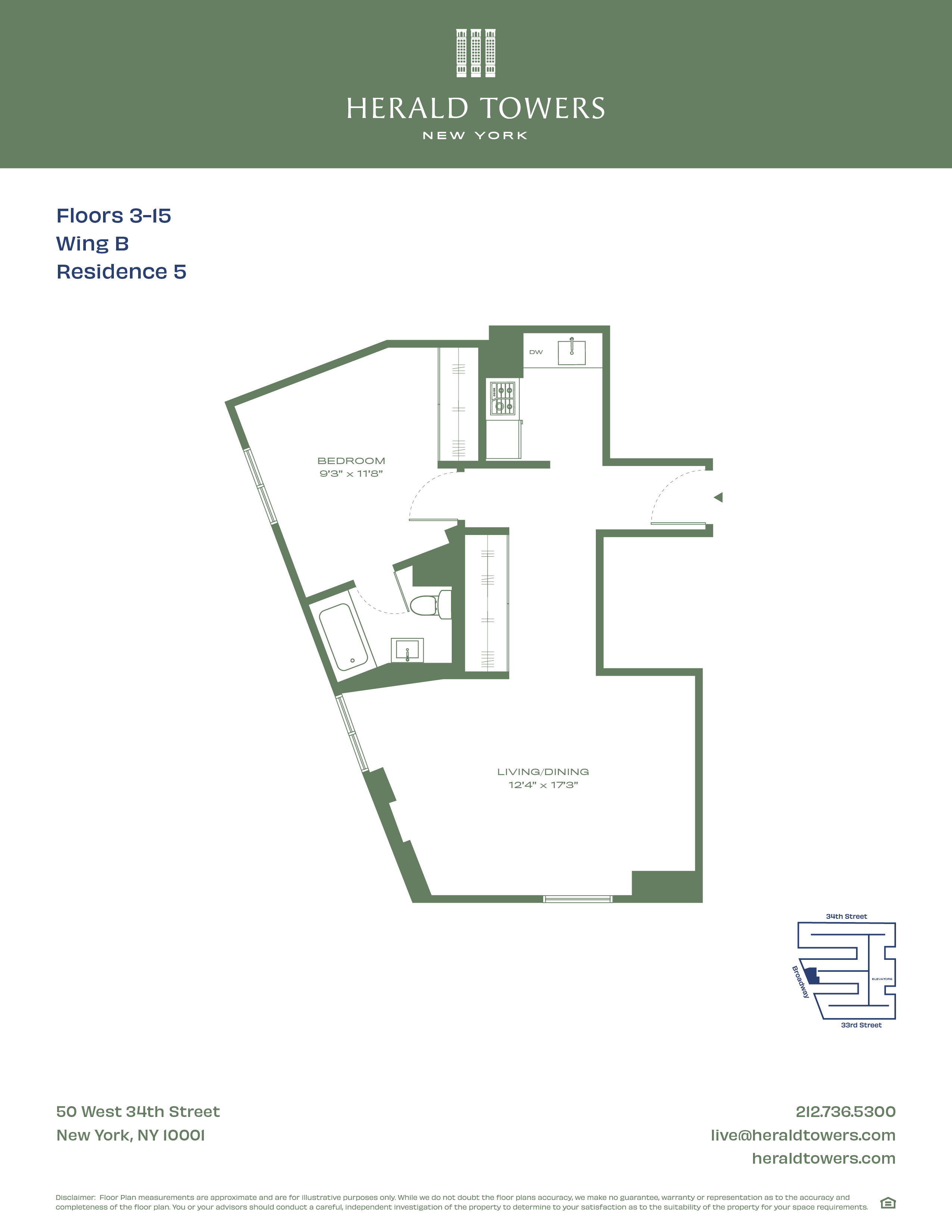 Floor plan for 12B05
