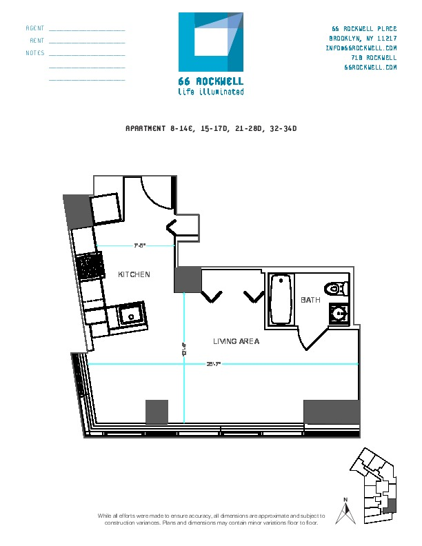 Floor plan for 33D